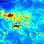 Concentraties fijnstof in Europa. Foto: Milieudefensie