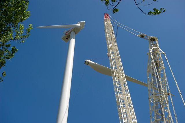 Windpark Houten in aanbouw. Foto: Eneco