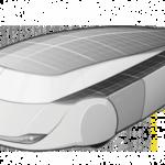 Eerder model van de zonneauto. Foto: TUe Solarteam