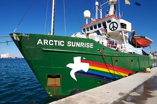 By Salvatore Barbera from Amsterdam, The Netherlands (Arctic Sunrise in Libya) [CC-BY-SA-2.0 (http://creativecommons.org/licenses/by-sa/2.0)], via Wikimedia Commons