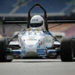 De elektrische raceauto. Foto: Hirvonen, via facebook