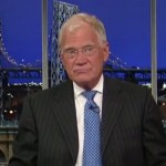 David Letterman schaliegas. Foto: still uit youtube video