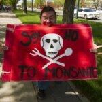Protest tegen ondermeer GM voedsel van Monsanto. Foto: John Novotny, Flickr