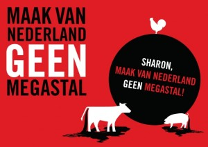 Maak van Nederland geen megastal, Milieudefensie actie