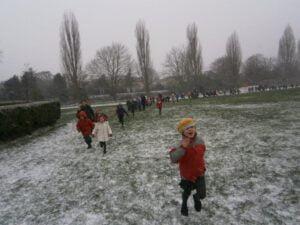 Sponsorloop voor zonnepanelen op school. Foto: 10:10 Nederland