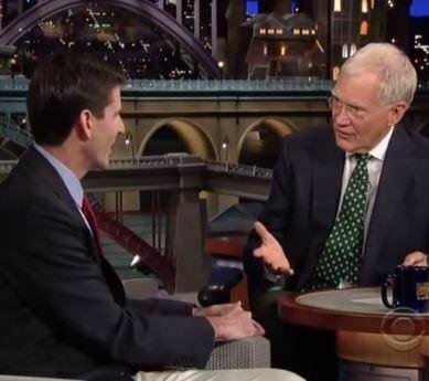 David Letterman interviewt Amerikaanse hetkanWel-professor