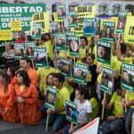 Internationaal protest tegen gevangen nemen Greenpeace activisten. Foto: wikimedia commons