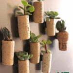 Koelkastmagneten met levende planten. Foto: upcyclethat.com