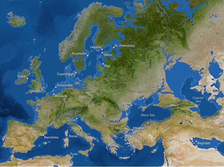 Kaart: Zo ziet de wereld eruit als al het ijs smelt