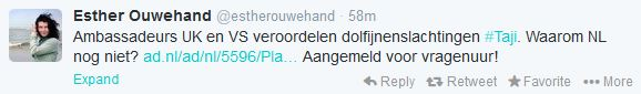 tweet esther ouwehand