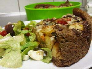 Brood quiche: lekker met een frisse salade