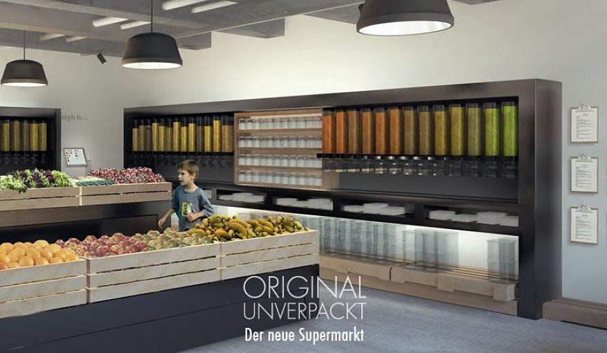 Duitsers openen eerste verpakkingsvrije winkel zonder plastic in 2014