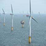 Windenergie van het windpark Sheringham Shoal Offshore Wind Farm. Foto: wikimedia commons
