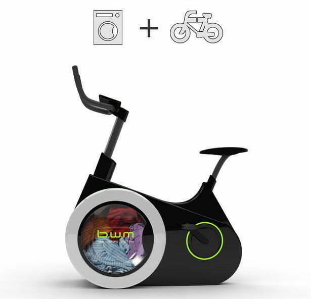 Handig: tegelijk sporten én wassen met je fietswasmachine