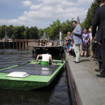 De solarboot van Avans Hogeschool. Foto: Avans