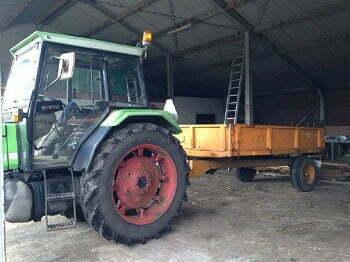 Traktor voor de mobiele moestuin