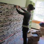 Boeken krijgen tweede leven als isolatiemateriaal