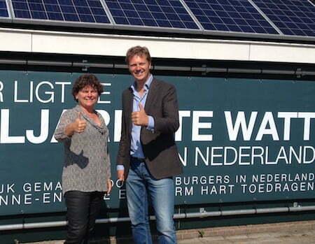 Monique Bollen (GroenLinks) en Matthijs Sienot (D66)