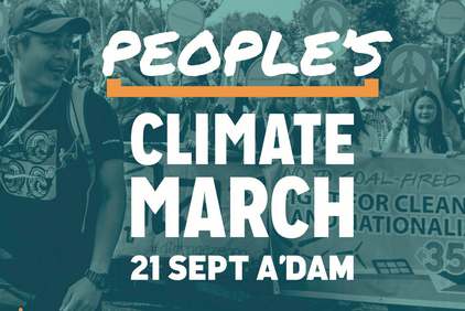 Flyer People's Climate March in Amsterdam