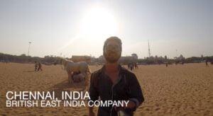 Forrest Curran in India voor het Purple Buddha project