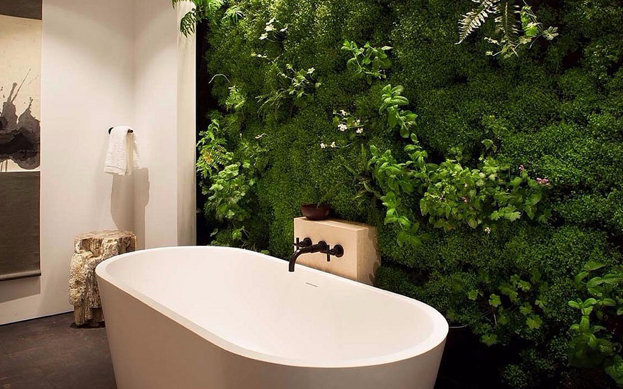 Badkamer vergroenen