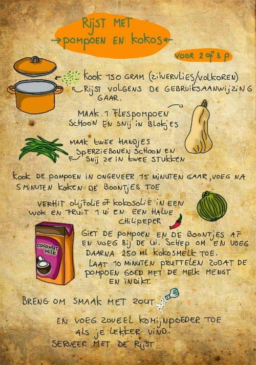 Rijst met pompoen en kokos, Céline Schroeder