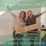 De Kledingbibliotheek viert succes crowdfundingscampagne. Foto: twitter