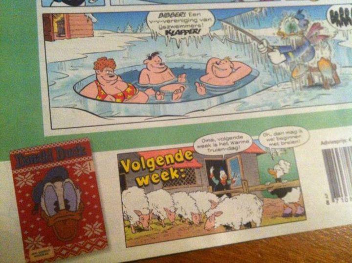 Donald Duck komt met speciale Warme Truiendag editie