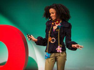 Maya Penn, 14-jarige groene duizendpoot. Foto: TED