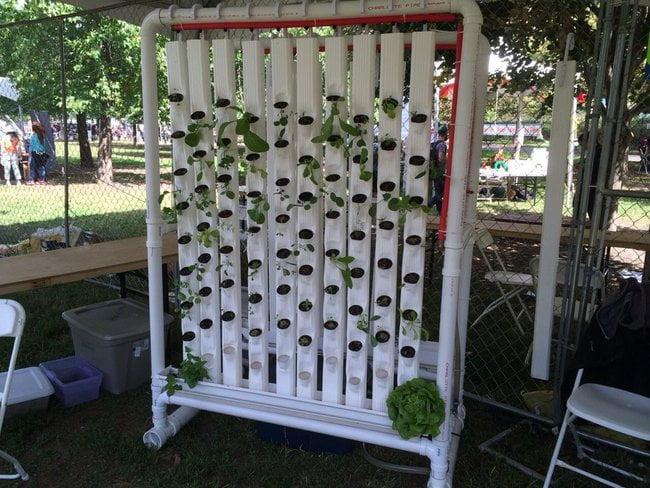 DIY tuinieren zonder grond en zonder omkijken met verticaal hydroponics systeem