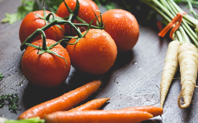 onbespoten groente