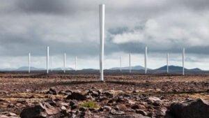 Windmolens zonder wieken. Foto: Vortex Bladeless