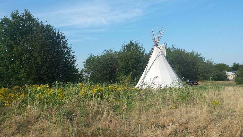 Tipi op Camp Spirit. Foto: HetkanWel