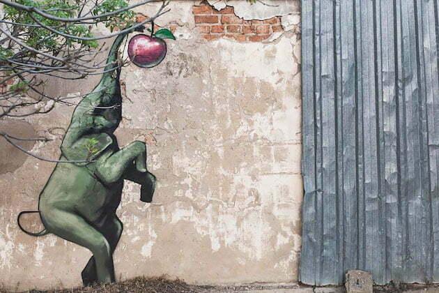 Kunst en kleur vrolijken het straatbeeld op