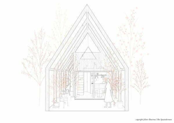 """Afbeelding: Tiny House ontwerp """"Binnenstebuiten"""" - Bas Spaanderman en Jelmer Buurma"""