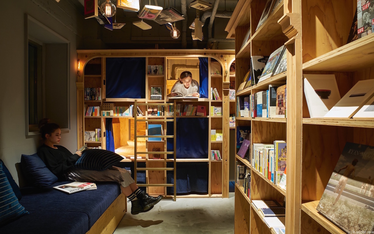 Slapen tussen de mooiste boeken