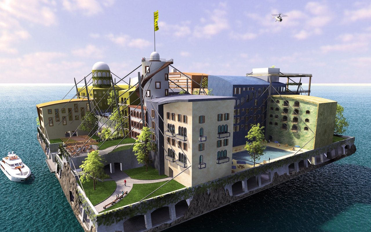 In California bouwen ze aan de eerste drijvende stad van de wereld