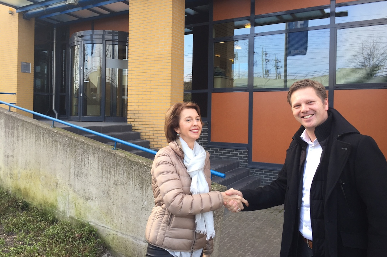 Matthijs Sienot met Marga Pouw (Pouw Groep)