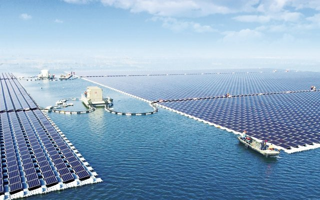 'Drijvende zonneparken kunnen trend worden'