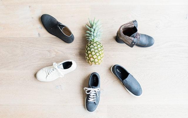 Deze schoenen zijn gemaakt van ananasleer