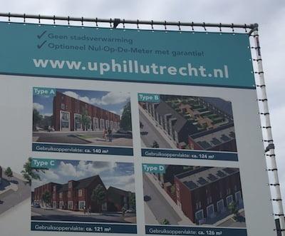 In Utrecht wordt al geadverteerd voor woningen zónder stadsverwarming.