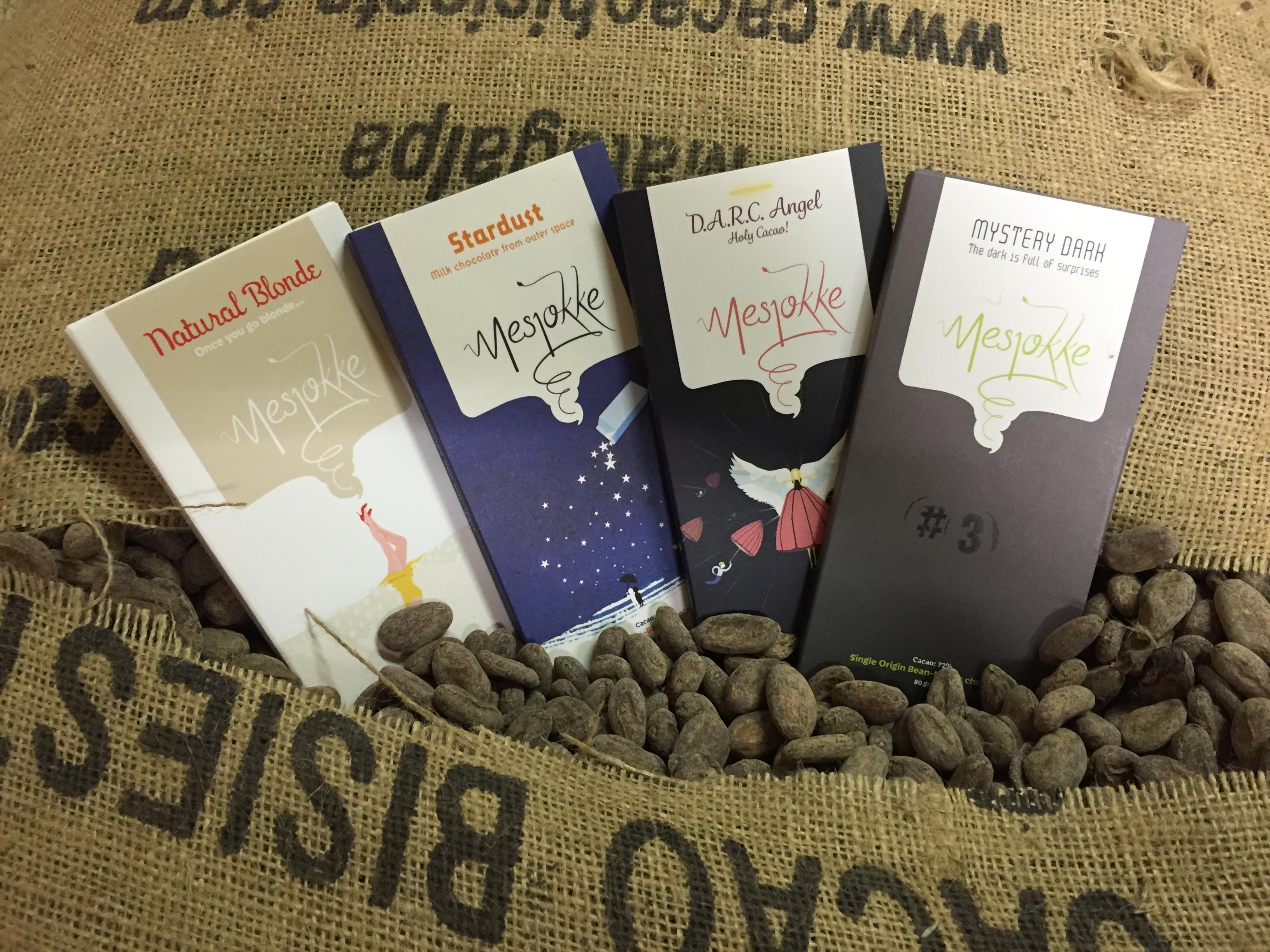 De bean-to-bar chocolade van Mesjokke