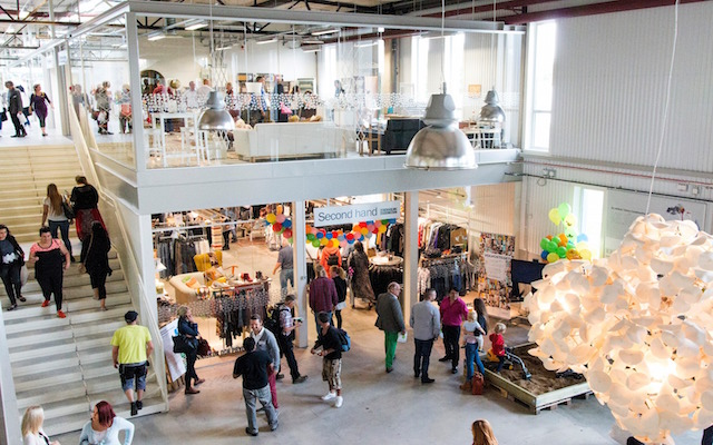 Winkelcentrum gerecycled duurzaam Zweden