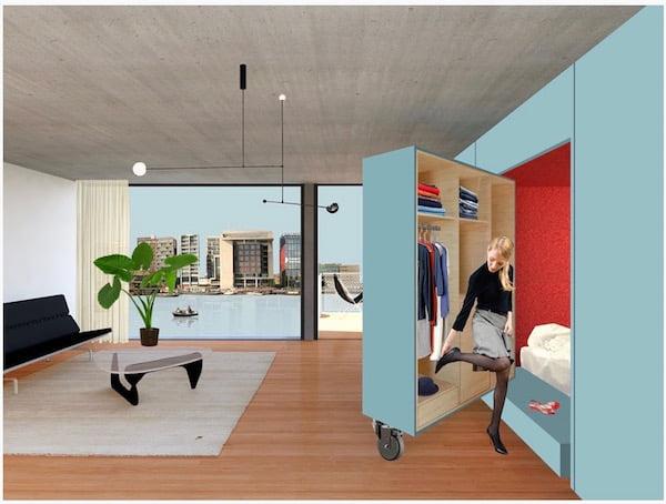 Stijlvol Wonen In Een Micro Appartement Van 30 M2
