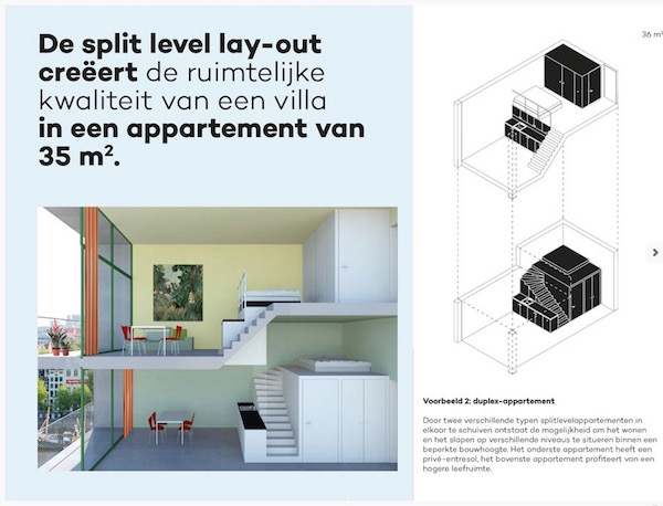 Split-level micro-appartement van XS Deluxe Amsterdam