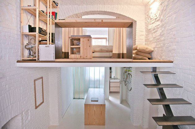 micro-appartement 'From shop to loft' in Torino van R3 Architetti