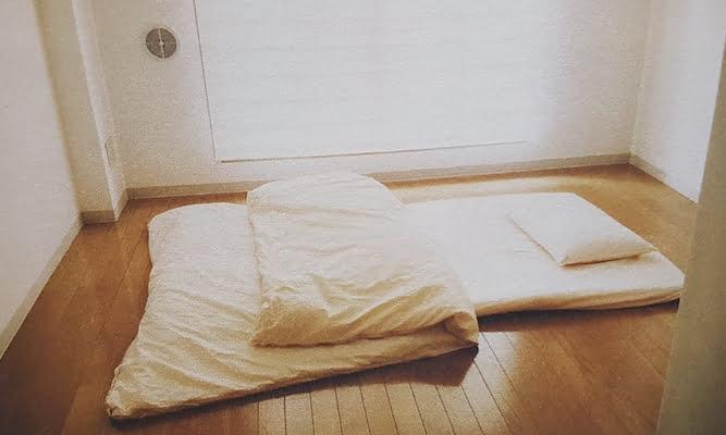 de slaapkamer van een minimalist
