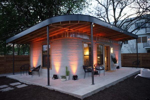 Het huis van de toekomst rolt uit een 3D-printer