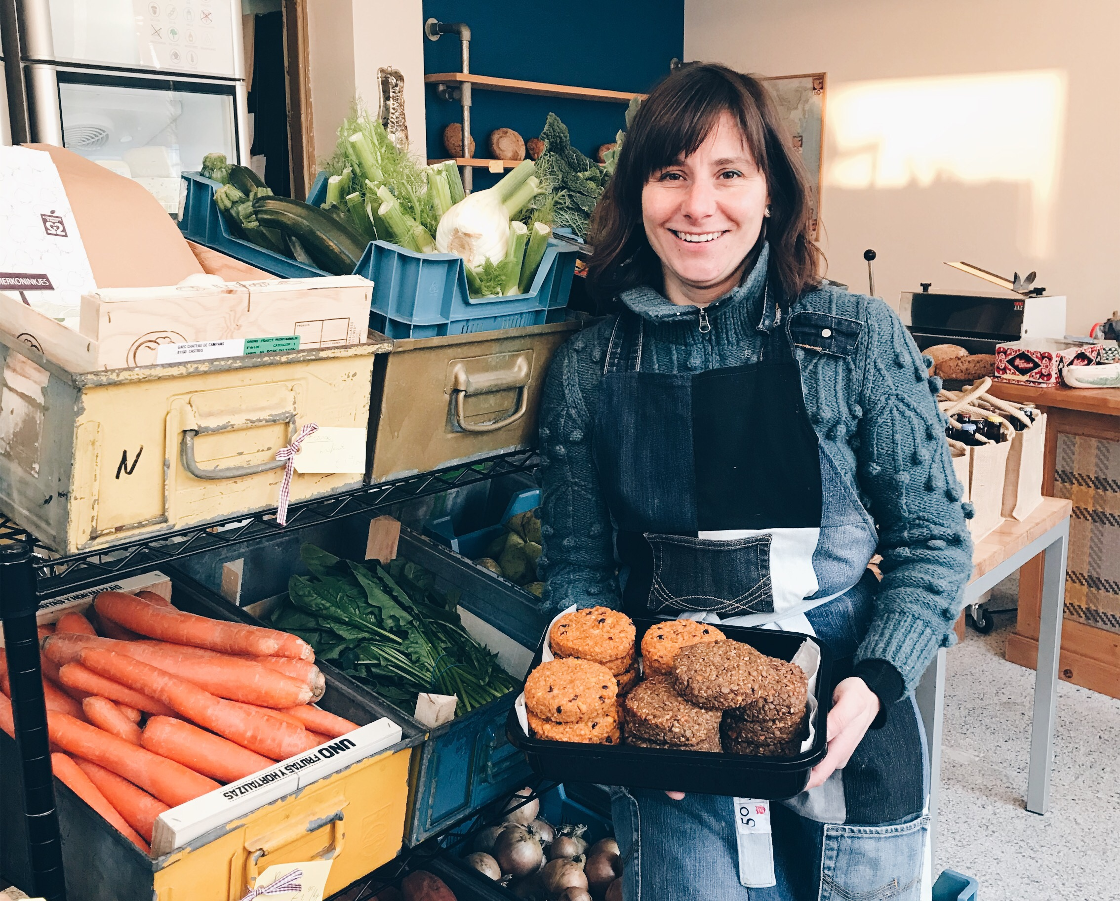 Tamara verkoopt bij haar winkel 'Eten zonder Streken' alleen lokale en plantaardige producten