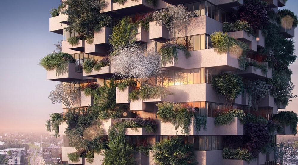 Dit verticale bos komt middenin het centrum van Utrecht